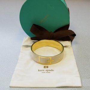 Kate Spade Top Notch cream and gold bangle